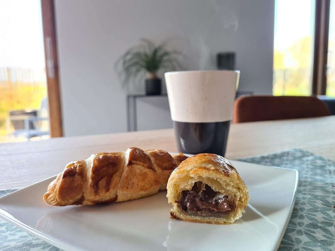 Chocolade croissants met walnoten (snel klaar)